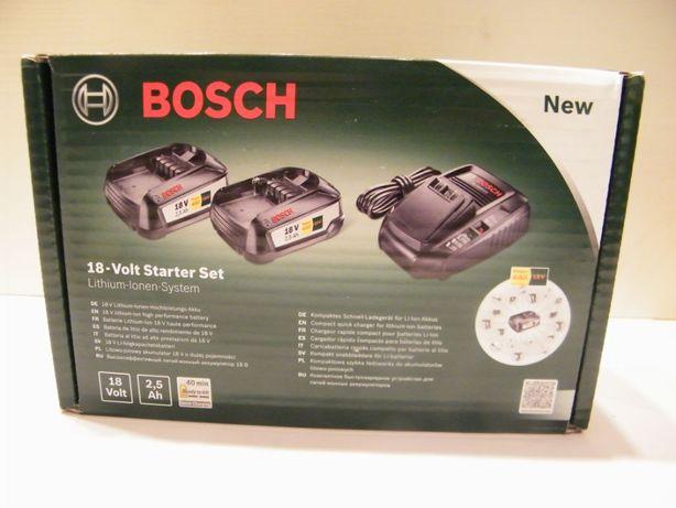 NOWY Bosch 2xakumulator PBA 18v 2,5Ah+ładowarka AL 1830 CV WYSYŁKA TEŻ