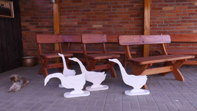 Sprzedam ławy, stoły, stołki drewniane