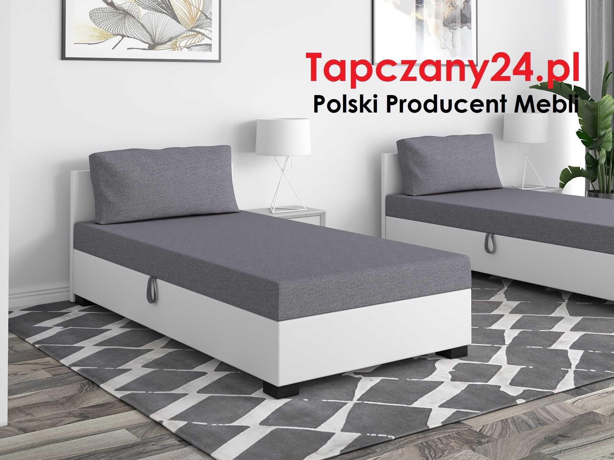 Tapczan młodzieżowy Łóżko jednoosobowe +pojemnik +materac Producent