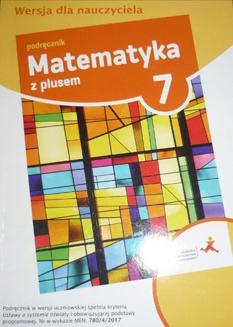 Matematyka z plusem kl 7 książka nauczyciela