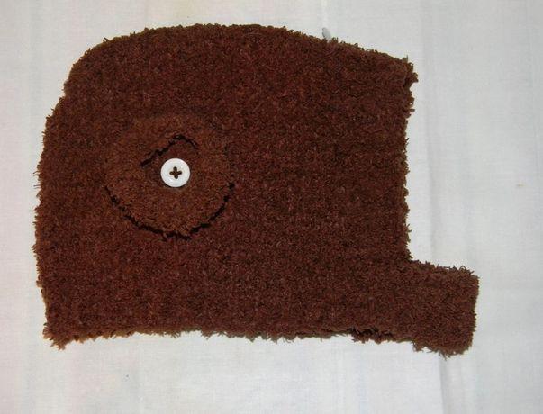 Шапка детская демисезонная коричневая