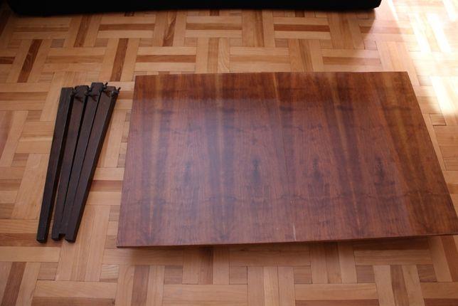 stół rozkładany i krzesła Rajmund Hałas vintage, PRL, lata 60