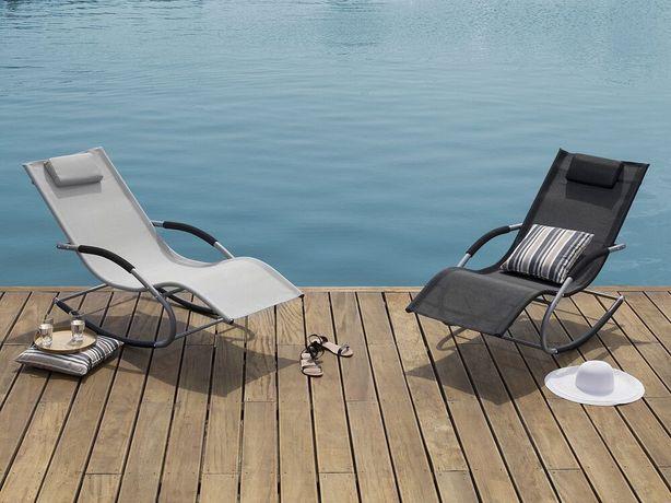 Cadeira de baloiço para jardim em cinzento CARANO - Beliani