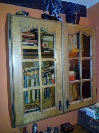 Kredens drewniany dębowy biblioteczka.Pomorskie.Okazja!