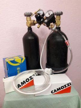 Оборудование система СО2 аквариума углекислотный баллон, балон камоци