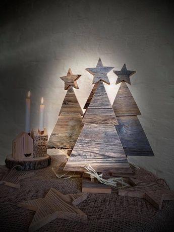 Choinki świąteczne Dekoracje świąteczne Ozdoby świąteczne ok 42x22 cm
