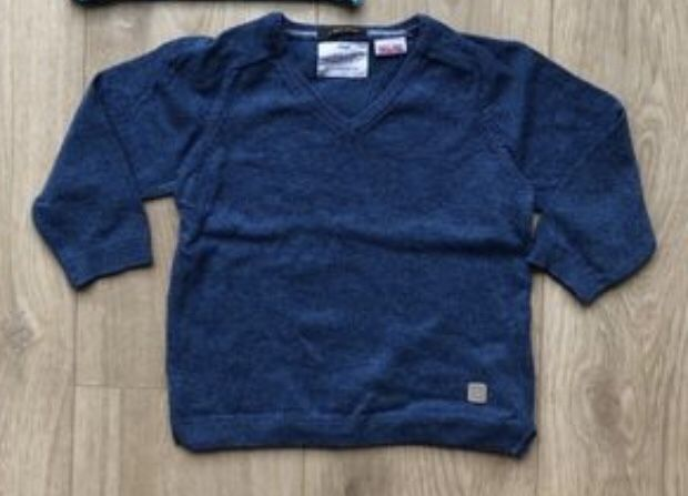 Cienki sweter Zara r.86