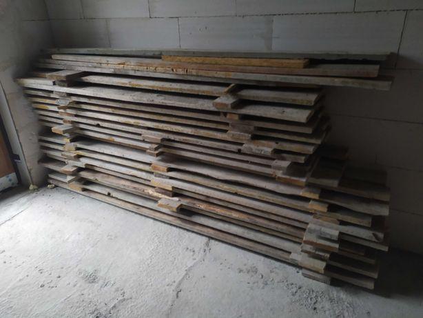 Deski szalunkowe, stemple budowlane drewniane