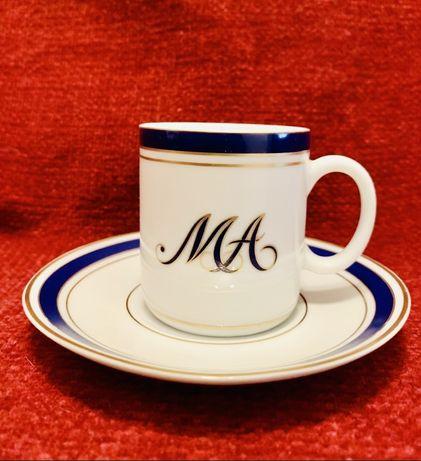 Chávenas de Café com Monogramas/Porcelanas NG Philae