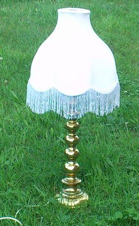Skandynawski design lampa stołowa Aneta mosiądz
