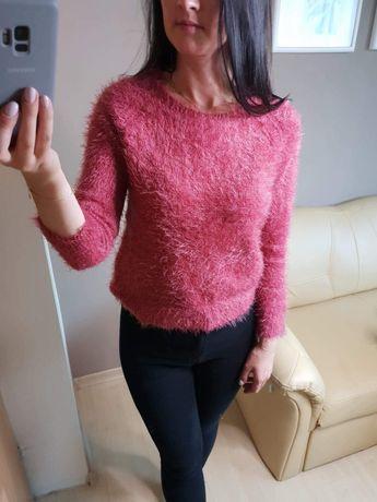 Koralowy sweterek zara S M 36 38 stan idealny.