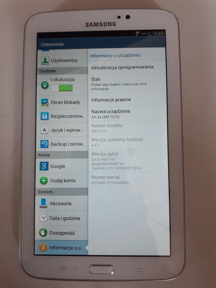 Tablet Samsung Galaxy Tab3.7.0 SM-T210 Wytrzyszczki - image 1