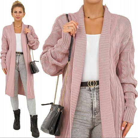 Przepiękna pleciona narzuta sweter kolory u130