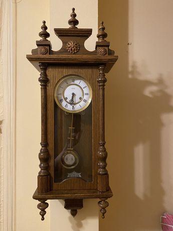 Zegar wiszący Jeka! Sygnowany mechanizm! Od zegarmistrza, po renowacji