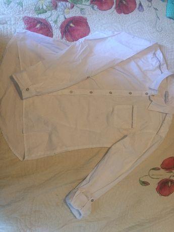 Piekna galowa koszula biala plocienna coolclub 170cm