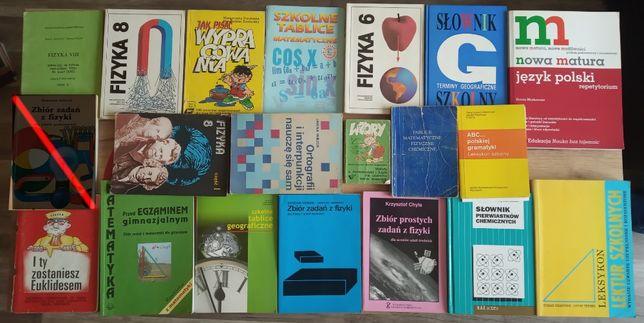 Książki naukowe, fizyka, matematyka, polski, Pitagorasem, słownik