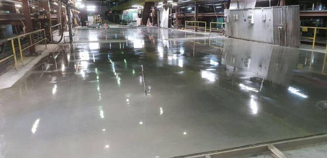 Posadzka przemysłowa betonowa posadzki żywiczne zacierana na gładko
