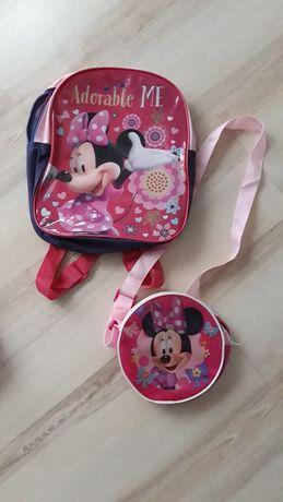 Plecak i torebka myszka minnie komplet