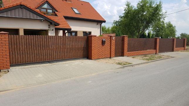 Ogrodzenie klinkierowe - montaż ogrodzeń kompleksowo