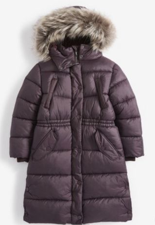 Пальто  зимнее Next 128 размер 7, 8 , 9лет.
