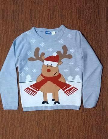 Тёплый детский новогодний свитер