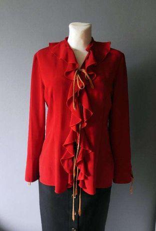 Czerwona bluzka koszulowa rozmiar S/M
