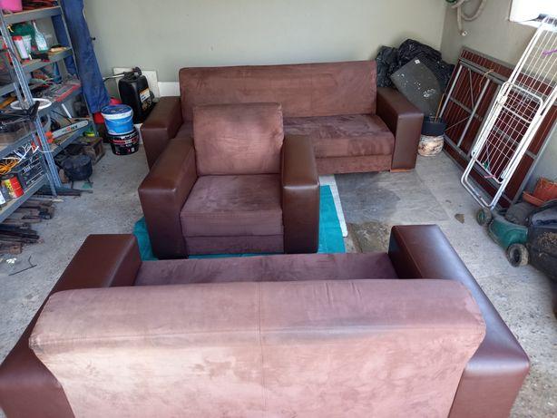 Sprzedam kanapy trójka rozkładana ,dwójka ,fotel