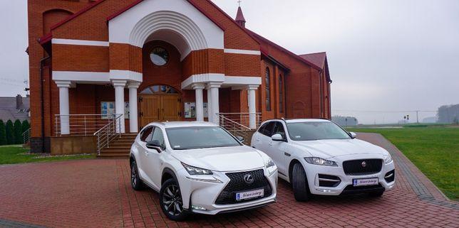 Auto do ślubu, na wesele-Lexus NX 200T & Jaguar F-Pace & BMW X4 xDrive