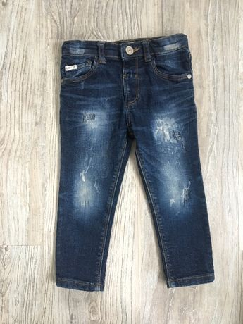 Spodnie jeans River Island 2-3 lata, roz. 92