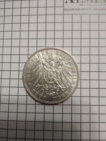 3 марки г. Гамбург 1911г.