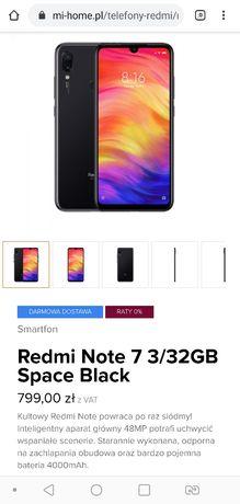 Nowy Xiaomi Redmi Note 7 Dual Sim (zaplombowane pudełko)
