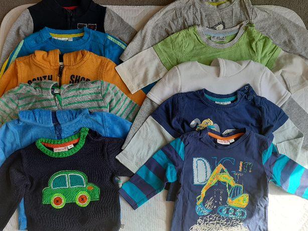 bluzki z długin rękawem, bluzy, koszule i katana r. 74/80