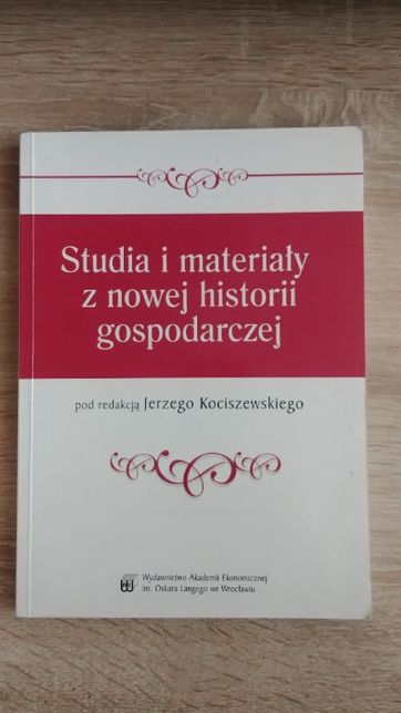 Studia i materiały z nowej historii gospodarczej