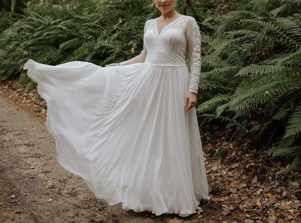 Suknia ślubna Julia Rosa 40 złamana biel ślub cywilny kościelny