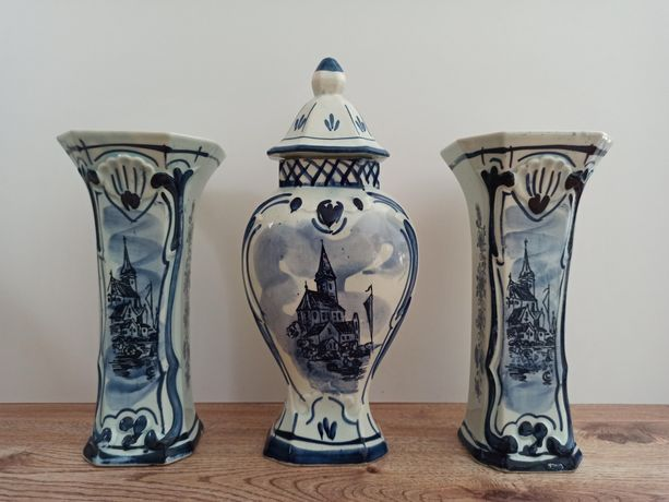 Amfora +dwa wazony Delft