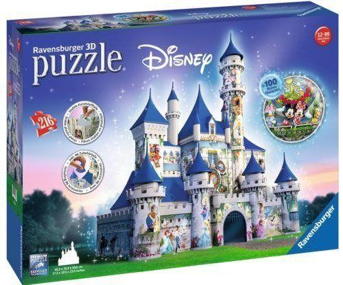 Puzzle 3D zamek disneya