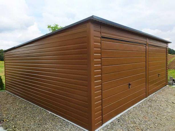 Garaż blaszany, garaż blaszak 6x5 ZŁOTY DĄB - 100% PROFIL ZAMKNIĘTY