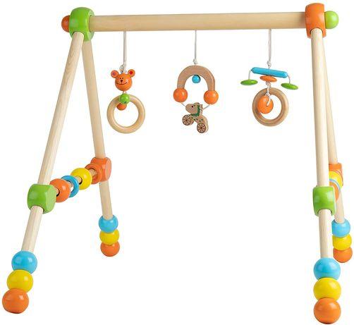 Zabawka Edukacyjna Dla Dziecka NOWA  Drewniany Stojak Baw Się i Ucz