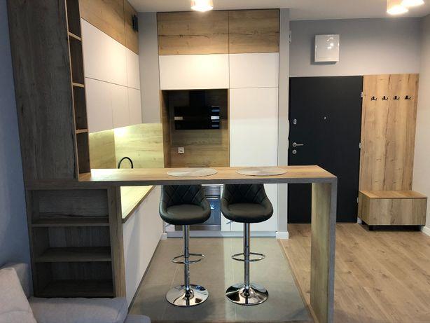 NOWY Apartament 32 m, osobna sypialnia, garaż, Manufaktura