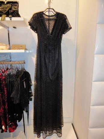 Платье Love Republic чёрное в пол кружевное гипюров вечернее