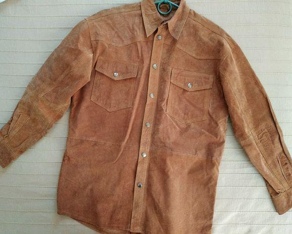 Замшевая рубашка, размер М-L