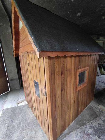 Domek drewniany ogrodowy dla dzieci