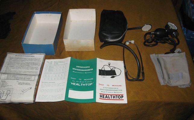 Esfigmomanómetro + Estetoscópio na Caixa Original - Vintage