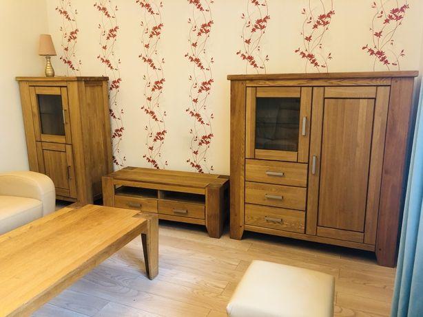 Meble loft dębowe: komody, stolik rtv, stolik kawowy