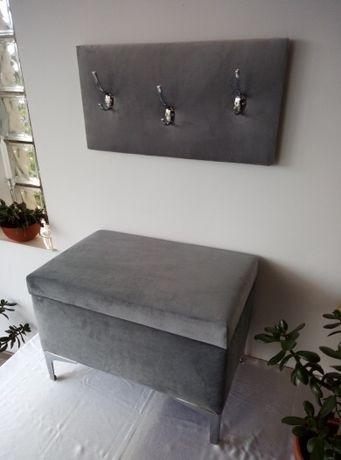 Garderoba pufa z wieszakiem tapicerwanym