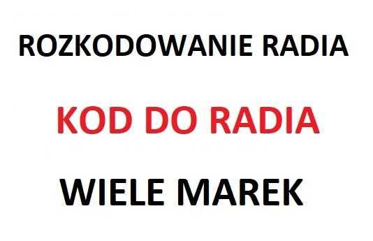 Rozkodowanie Kod do radia nawigacji VW VOLKSWAGEN AUDI SKODA SEAT