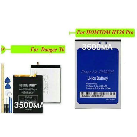 Сенсор новый аккумулятор Doogeе Y6 батарея смартфона Homtom HT20 диспл
