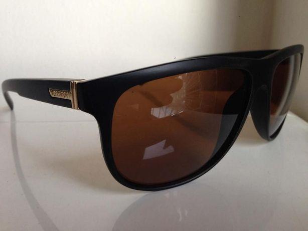 Óculos Von Zipper Cletus Pretos com Lentes Castanhas - novos