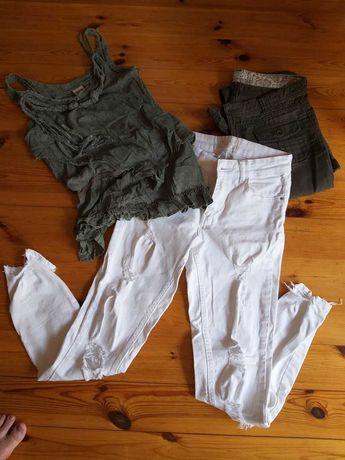 super zestaw 2 pary spodni i bluzka na lato rozmiar S 36