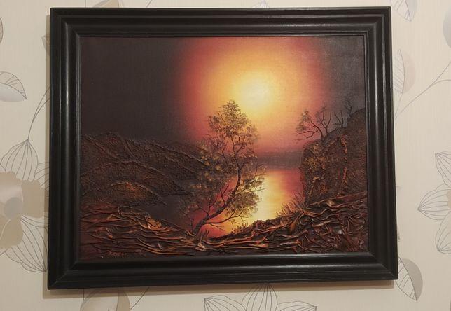 Sprzedam obraz w drewnianej ramie